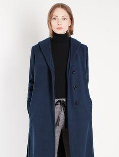 Cappotto con cappuccio, navy - Marella