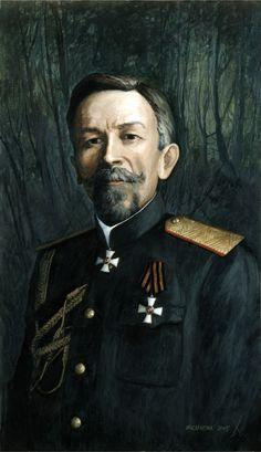 General Kornilov Lavr Georgievich. Portrait.