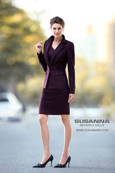 Designer couturier clothes. This burgundy womens couture suit is great for business meetings. Available custom made and ready to wear at Susanna Beverly Hills boutique in Beverly Hills. See more of the Susanna Beverly Hills Fall 2013 Collection featuring the Famous Pantsuit at www.Susannabh.com