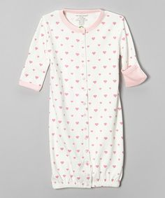 Love this White Heart Organic Convertible Gown - Infant on #zulily! #zulilyfinds