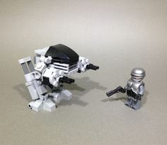 https://flic.kr/p/rdSQt9 | Robocop/ED-209 | Had these out and thought I'd show the scale between them. I still think the Sci-do movies of the 80's were some of the best ever made. Ed based on dacoma1's awesome design Robocop armour set by breakthrough army