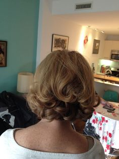 An elegant 1960s throwback hairstyle for the mother of the bride. hair by #jackieschneiderbeauty