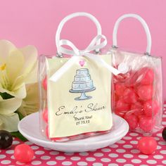 Personalized Mini Gift Tote Favor: Heart Designs(OUT OF STOCK, Available 4/30)