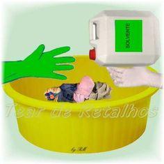 Para uma lavagem a seco caseira é necessário o uso de solventes. Portanto é preciso muito cuidado na hora de utilizá-los
