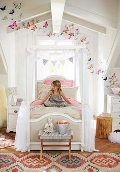 Bohemian girls room. Love it!!