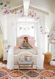 Bohemian girls room. Love it!!
