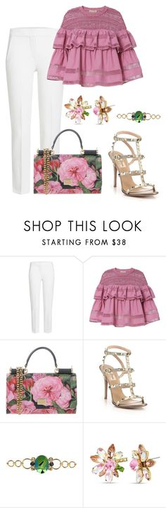 """Untitled #3611"" by janicemckay ❤ liked on Polyvore featuring MaxMara, Sea, New York, Dolce&Gabbana, Valentino, Otazu and Betsey Johnson"