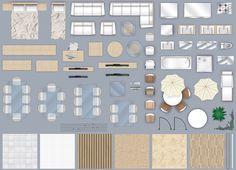 furniture floorplan top down view style 4 psd model 1 Modern Furniture Sets, Affordable Furniture, Furniture Plans, Furniture Design, Modern Apartment Design, Modern Interior Design, Photoshop, Floor Plan Symbols, Table Sketch