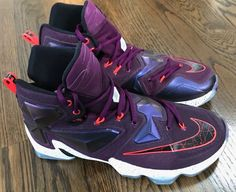 premium selection 34bc8 cd75f NIKE LEBRON XIII 13 Mulberry Black Purple Basketball Shoes 807219-500 Mens  SZ 9