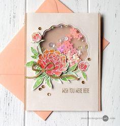 Tulle Shaker Cards | Jennifer McGuire Ink | Bloglovin'