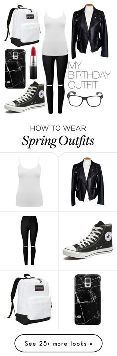 """My Birthday Outfit"" by fashion98711 on Polyvore featuring Converse, M&Co, Alexander McQueen, JanSport, Casetify and MAC Cosmetics"