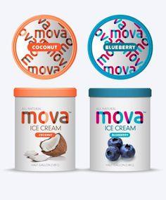 + Design de embalagem :   Projeto da Luko Designs, para a linha de sorvete da MOVA.