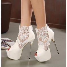VIVIOO Prom Sandals 9 Cm White Bride Shoes Pearl Lace Bow Heels Fine Heel Sharp Dress Shoes One Word Bracelet Sandal,7