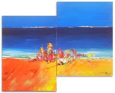 Or Bleu - Toile acrylique 120x90 cm