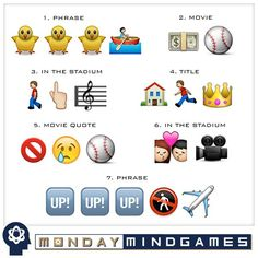 """""""Time for #Brewers Monday Mind Games! Can you solve these Baseball Emoji Puzzles?  #EmojiMonday"""""""