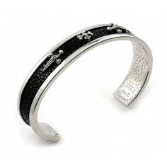 Hematite Stingray Cuff Sterling Silver Bracelet Shop4Silver. $235.80