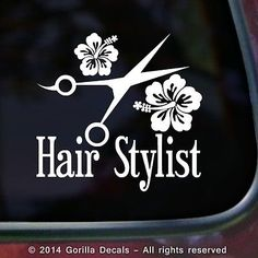 Hair Life For Hairstylist Window Decal Customstickershopcom - Hair stylist custom vinyl decals for car