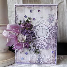 "Hello friends, A new challenge starts today at Double D Challenges. Team Diane is hosting this challenge with the lovely theme of ""Lavender and Lace"". The theme of beautiful lavender  colors and ro…"
