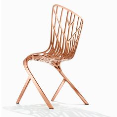 are you kidding me David? I know nothing about this chair yet, I just saw this chair in copper and am captivated. it's items like these that just make me pause and smile. Washington Skeleton™ Aluminum Side Chair by David Adjaye | Knoll
