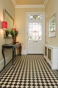 harlequin patterned floor...SO want this floor in my laundry/mud room