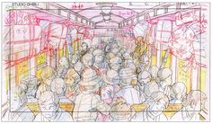 artbooksnat: Original animation layouts from the Hayao Miyazaki film The Wind Rises (風立ちぬ). Studio Ghibli Art, Studio Ghibli Movies, Background Drawing, Animation Background, Hayao Miyazaki, Totoro, Manga Art, Anime Art, Le Vent Se Leve