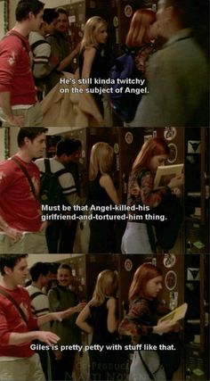 must be that angel-killed-his-girlfriend-and-tortured-him thing