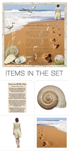 """""""Footprints in the Sand"""" by hubunch ❤ liked on Polyvore featuring art"""