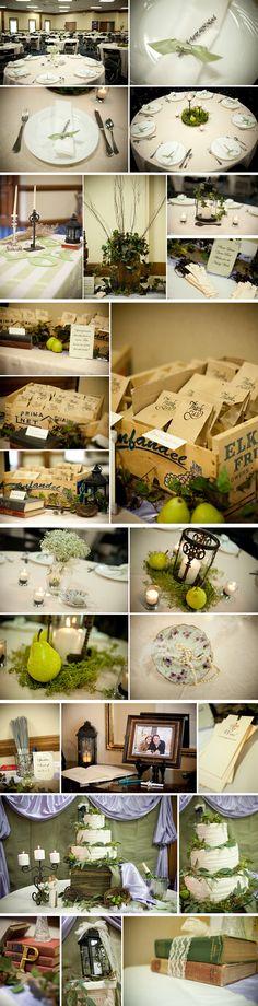 My lavender and sage green wedding details.