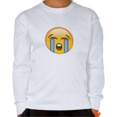 Loudly Crying Face Emoji T Shirt
