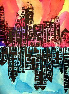 ART IN THE BIG GREEN ROOM  ELEMENTARY - Printmaking 4th grade