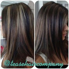 Gorgeous chocolate brown with peek-a-boo blonde panels