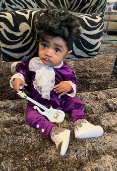From to toddler trendsetter, we recapture our son's first Halloween as the legendary icon Prince! Prince Costume Purple Rain, Baby Prince Costume, Prince Purple Rain, First Halloween, Baby Halloween Costumes, Baby Costumes, Halloween 2018, Halloween Ideas, Halloween Countdown