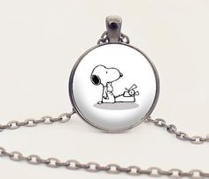 Snoopy and Typewriter Charm Necklace  Writer by PaperHeartDaily