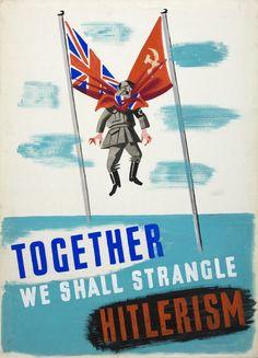"""Together we shall strangle Hitlerism""  British propaganda during WWII.  #propaganda #worldwar2"