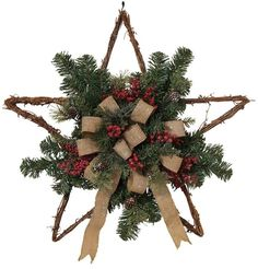 How beautiful this bow twig star wall decor will look in your Burlap Bow Twig Star Christmas Wall Decor Rustic Christmas, Christmas Home, Christmas Lights, Christmas Holidays, Christmas Decorations, Christmas Ornaments, Winter Holiday, Christmas Trees, Holiday Wreaths