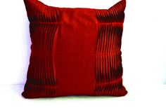 Decorative cushion  Red pillow cover Cotton Throw by AmoreBeaute