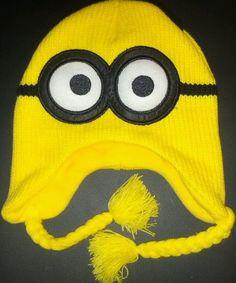 ff41c35f385 NEW Original Despicable Me 2 Dave Minion Peruvian Beanie Knit Hat Pilot Ski  Cap  Beanie