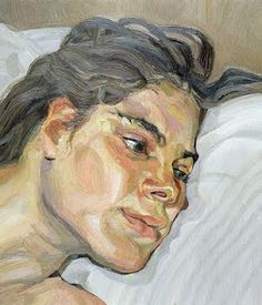 Lucien Freud using soft tones for delicate appeal