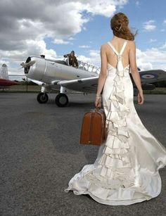 Wedding location at The Southern Museum of Flight in Birmingham, Alabama. Pose with historical planes of past eras. I'm not a fanatic about planes, but I have to say, this would make one unique, epic engagement photo shoot!