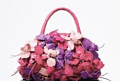 Floral satchel, Nancy Gonzalez.