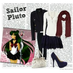 Sailor Pluto inspired outfit