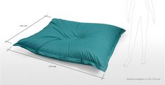 The Piggy Bag, un pouf XXL, bleu canard | made.com