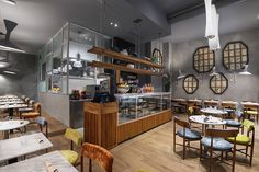 Natural, pure, healthy: are we talking about food or Lindura?   Skema  Lindura Elementary flooring for the veg restaurant Botanica Lab Cucina