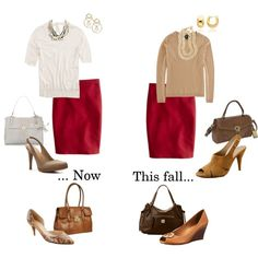 """Golden Hickory Skirt ideas - now and later"" by busyvp on Polyvore"