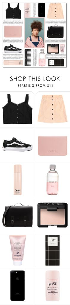 """Enemies too c l o s e ~"" by radicalelliot ❤ liked on Polyvore featuring H&M, Vans, Coast, Chloé, Sephora Collection, Lord & Berry, NARS Cosmetics, Sisley and philosophy"