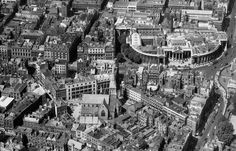 Dame St & College Green, 1959 Ireland Pictures, Old Pictures, Old Photos, Dublin Street, Dublin City, City Council, Back In The Day, Maps, City Photo