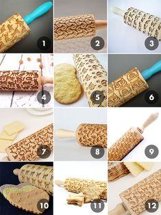 Perfect Embossed Cat Rolling Pins available from these Etsy sellers Bazalel Art Shop Unique