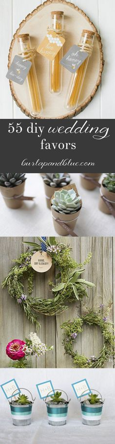 Wedding Gifts For Guests 55 DIY Wedding Favors - Favorite DIY wedding favors! Edible food favors, wine favors, plant and succulent favors…lots of wedding favor ideas you can make yourself. There's nothing like planning a wedding to br… Succulent Wedding Favors, Rustic Wedding Favors, Unique Wedding Favors, Unique Weddings, Trendy Wedding, Wedding Ideas, Wedding Souvenir, Diy Wedding Wreath, Terrarium Wedding