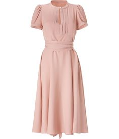 Marc by Marc Jacobs Mimi Old Rose Belted Silk Crepe Dress