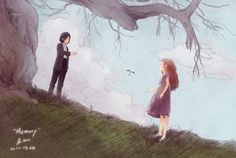 Find images and videos about harry potter, severus snape and lily evans on We Heart It - the app to get lost in what you love. Harry Potter Fan Art, Harry Potter Drawings, Harry Potter Ships, Harry Potter Fandom, Harry Potter Universal, Harry Potter World, Snape Y Lily, Harry Potter Severus Snape, Severus Rogue
